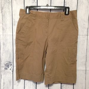 Izod Golf Shorts Womens Size 4 Brown Bermuda